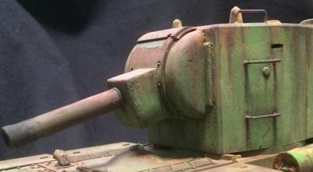 KV-2の砲塔を見ると「塗り心」が刺激されてしまうのだ