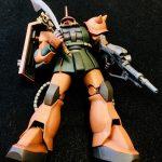 素組み!HGUCガルマ・ザビ専用ザクII FS型 from 機動戦士ガンダム