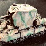 ビショップ自走砲、ディープグリーンで迷彩塗装