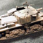 イタリア セモベンテ突撃砲をサーフェイサーと水溶きアクリルで下塗り