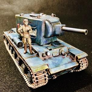 BLUE GIANT?! タミヤ1/35 KV-2 ブルー・ギガンド制作記