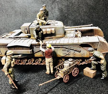 英国陸軍チャーチルMk.Ⅶ歩兵戦車タミヤ 1/35 制作記